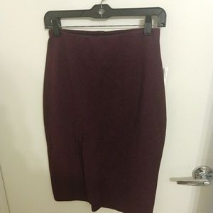 NWT Old Navy Burgundy stretch pencil skirt small